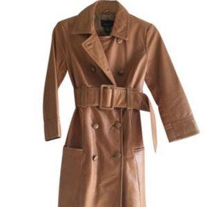 Arden B sz M Midi Leather Coat